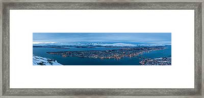 Panoramic View Of Tromso In Norway  Framed Print by Ulrich Schade