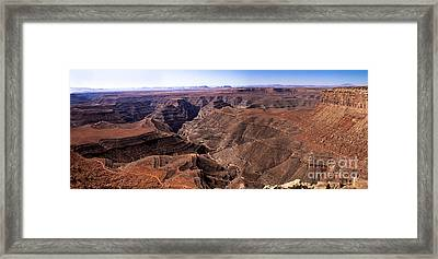 Panormaic View Of Canyonland Framed Print