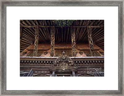 Panote Temple Struts - Nepal Framed Print by Craig Lovell