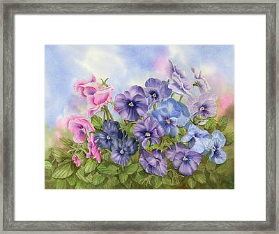Pansies Framed Print by Leona Jones
