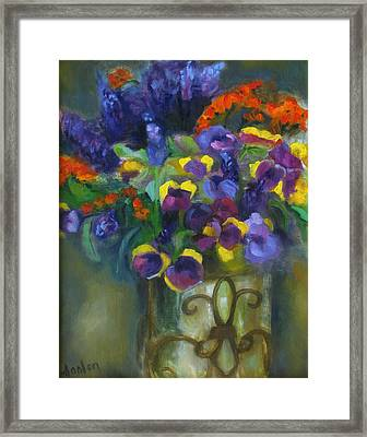 Pansies Framed Print by Susan Hanlon