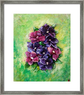 Pansy Expression Framed Print
