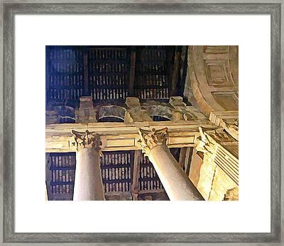 Pantheon Columns Framed Print by Mindy Newman