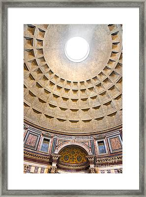 Framed Print featuring the photograph Pantheon  by Luciano Mortula