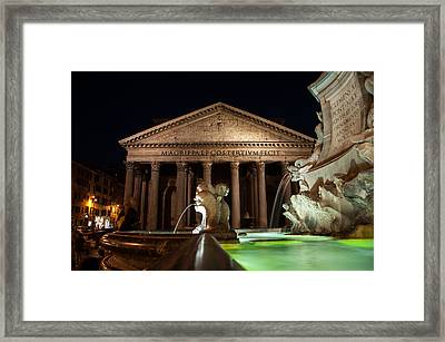 Pantheon Rome Framed Print by Stavros Argyropoulos