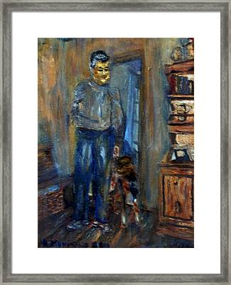 Framed Print featuring the painting Papa And Fitz by Denny Morreale