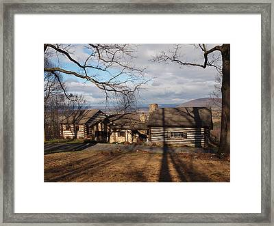 Papa Toms Cabin In The Woods Framed Print by Robert Margetts