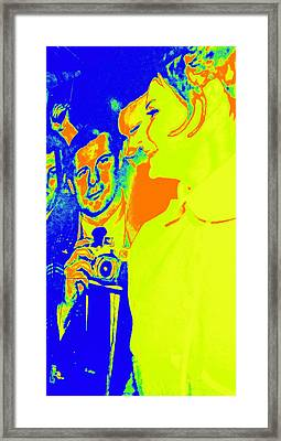 Paparazzi Celebrity Framed Print by Randall Weidner