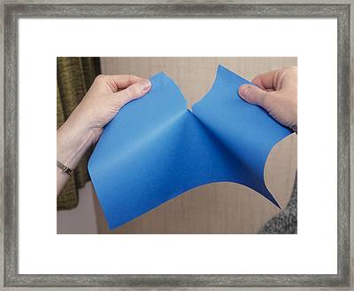 Paper Being Torn Framed Print by Andrew Lambert Photography