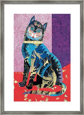 Paper Cat Framed Print