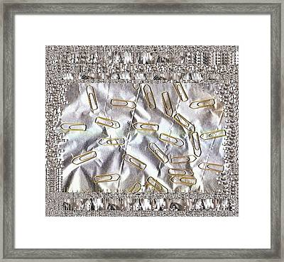 Paper Clips And Paper Pop Art Framed Print