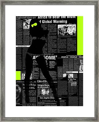 Paper Dance 2 Framed Print by Naxart Studio