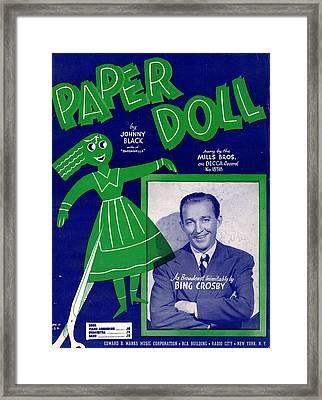 Paper Doll Framed Print