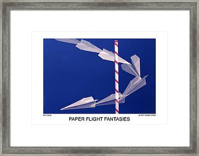 Paper Flight Fantasies - Air Race Framed Print by Jerry Taliaferro