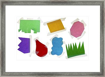 Paper Multi-colored Blank Slices  For Notes Framed Print by Aleksandr Volkov