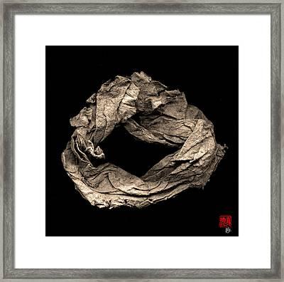 Paper Sculpture Zen Enso 1 Framed Print by Peter Cutler