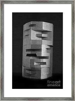 Paper Scuplpture Framed Print by Igor Kislev