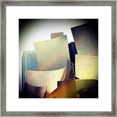 Paper Shapes Framed Print by Kevin Bergen