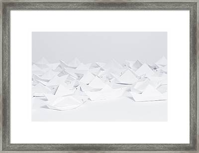 Paper Ships Framed Print by Sugarflower Photography