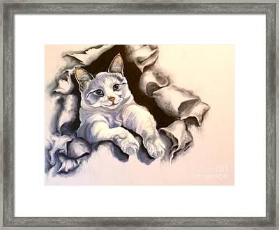 Paper Tiger Framed Print by Susan A Becker