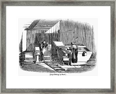 Papermaking, 1833 Framed Print by Granger