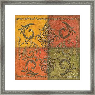 Paprika Scroll Framed Print