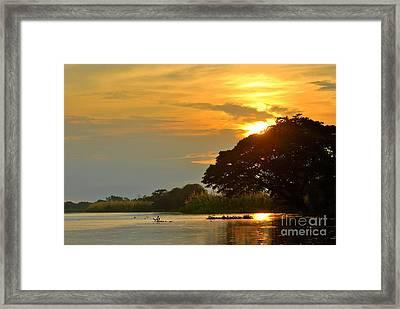 Papua New Guinea Sunset Framed Print