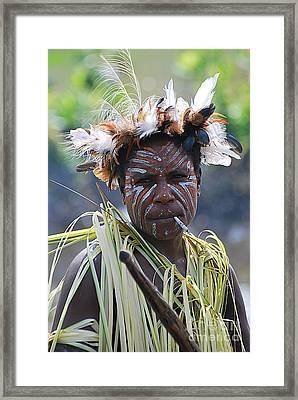 Papuan Fisherwoman Framed Print