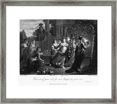 Parable Of Virgins Framed Print by Granger