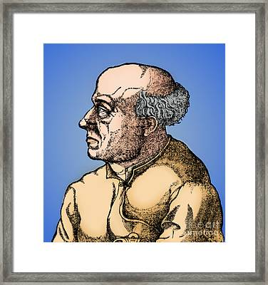 Paracelsus, Swiss Polymath Framed Print by Science Source