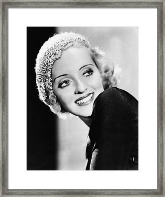 Parachute Jumper, Bette Davis, 1933 Framed Print by Everett