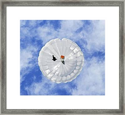 Parachute Seen From Below Framed Print