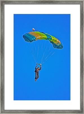 Parachuting Framed Print by Karol Livote