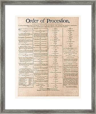 Parade For The Us Constitution Framed Print