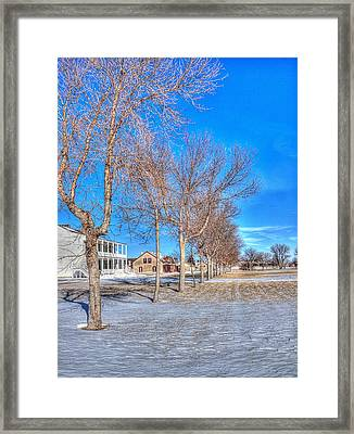 Parade Grounds - Fort Laramie  Framed Print by HW Kateley