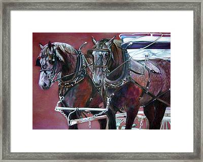 Parade Horses  Framed Print by Leonor Thornton