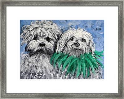 Parade Pups Framed Print by Jeanette Jarmon