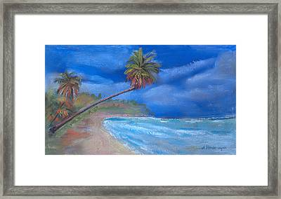 Framed Print featuring the pastel Paradise In Puerto Rico by Arline Wagner