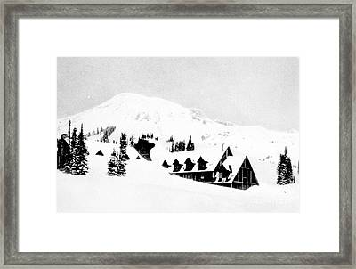 Paradise Inn Buried In Snow, 1917 Framed Print by Science Source