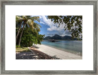 Paradise Island Framed Print by Adrian Evans