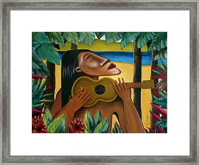Paradise Lost Framed Print by Mark Kingsley Brown
