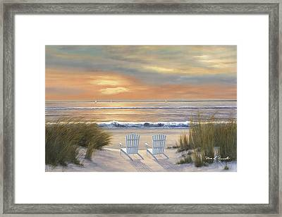 Paradise Sunset Framed Print