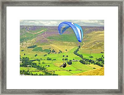 Paragliding Off Mam Tor 01 Framed Print by Rod Johnson