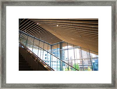 Framed Print featuring the photograph Parallel Beams by JM Photography