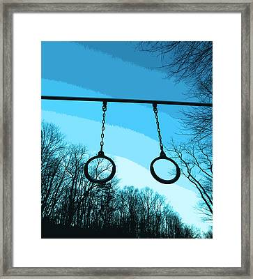 Parallel Rings Framed Print by Patricia Januszkiewicz