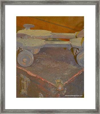 Parallel Skates Framed Print by Diane montana Jansson