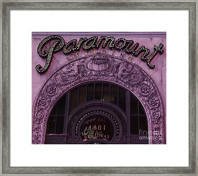 Paramount Theater Times Square II Framed Print
