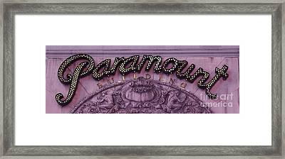 Paramount Theater Times Square Framed Print