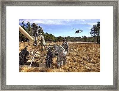 Paratroopers Prepare To Hook Up An Framed Print by Stocktrek Images