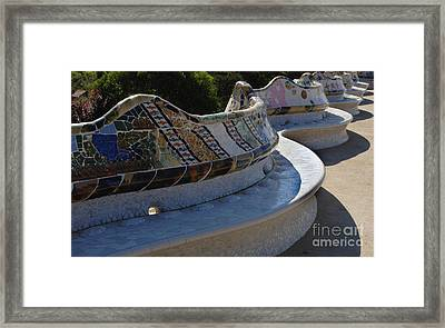 Parc Guell Spain Framed Print by Bob Christopher